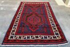 Authentic Hand Knotted Afghan Balouch Wool Area Rug 7.0 x 4.5 Ft (1224 HMN)