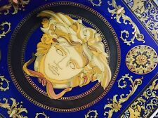 """VERSACE MEDUSA TRAY DISH PLATE BLUE CANDY ROSENTHAL 7"""" Large NEW RETAIL $ 350"""