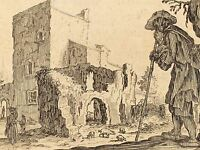JACQUES CALLOT FRENCH SHEPHERD RUINS OLD ART PAINTING POSTER PRINT BB5759A