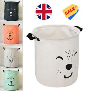 Kids Baby Toy Useful Canvas Laundry Basket Storage Bag With Leather Handbag