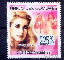 Comoros MNH, Catherine Deneuve, French Film actress occasional singer, model -Q2