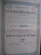 ACTION BELGIQUE RUSSIE FABRIQUE RUSSE DE COURROIES LECHAT 1900