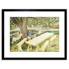Eric Ravilious Two Women In A Garden Framed Art Print 9x7 Inch