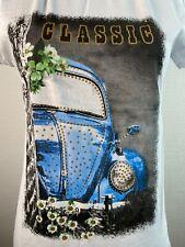 Shirt, T-Shirt, VW KÄFER, Damen, weiß, Glitzer, Baumwolle, Motiv, Sommer