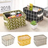 Foldable Storage Box Canvas Kids Toy Tubs Folding Collapsible Holder Basket Bag