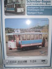 Stuttgarter Straßenbahn. Triebwagen 222