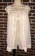Vintage Pink ShadowLine Nylon Sissy Babydoll Panty Nightie Gown Peignoir Set S