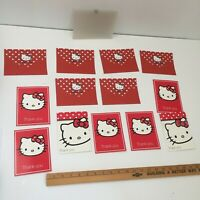 Hello Kitty Thank You Cards 7 Cards & 6 Envelopes Plastic Snap Cover 2004 Sanrio