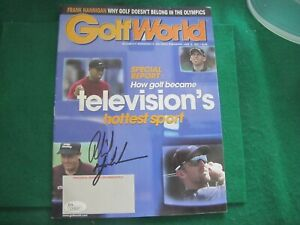 Phil Mickelson Signed 2001 Golf World Magazine Autographed GolfJSA GRADED