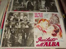 SHOT ALL'ALBA fotobusta small original 1950 RENEE SAINT-CYR
