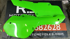 Kawasaki KX500 KX 500 250 1987 UFO Green Side Covers panels NEW NOS