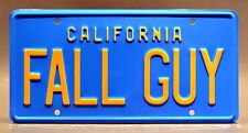 FALL GUY / Colt Seavers' GMC Pickup / *METAL STAMPED* Replica Prop License Plate