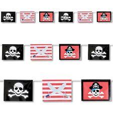 12 piedi Red Stripe scontrato Pirate Flag Banner Childrens Party Decorazione