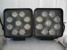 2 X PIECES LED WORK LIGHTS SQUARE SUPER BRIGHT 27 WATTS INC MOUNTING