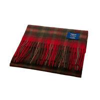 EDINBURGH Blue Label 100% Luxury Cashmere Scarf Tartan Maple