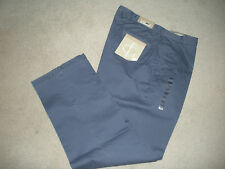 FIELDGEAR MENS PANTS CLASSIC KHAKIS PLAIN FRONT YANKEE BLUE COTTON 36X32 NWT