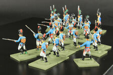 1/72 scale Painted Airfix 25 Bavarian Infantry figures on bases red/blue on hats