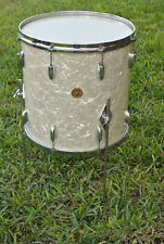 "1950's GRETSCH 16"" WHITE PEARL 6-PLY FLOOR TOM for YOUR DRUM SET! LOT #D619"