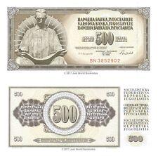 Yugoslavia 500 Dinara 1986 P-91c Banknotes UNC