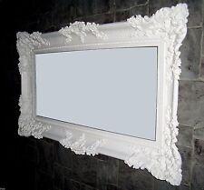 XXL Espejo de Pared Blanco 96x57 ANTIGUO Barroco Shabby Chic pasillo maquillaje