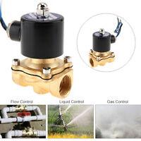 1Pcs DC12V 1/2'' NPT Inlet Electric Solenoid Valve Water Air Gas Valve NPT Brass