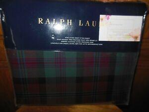 RALPH LAUREN - BOHEMIAN MUSE PLAID KING DEEP FITTED SHEET