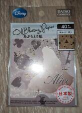 Daiso Japan Disney Princess Oil Blotting Paper 40 Sheets Alice in Wonderland