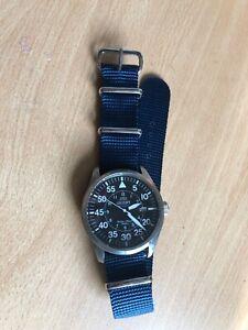 1.5mm thick  NATO/MoD watch strap Navy Blue 22mm x 280mm THN22
