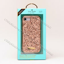 Kate Spade Wrap Snap Case For iPhone 7 iPhone 8 (Rose Gold Exposed Glitter) New
