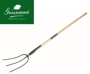 "Hay Fork 3 Prong High Quality Greenman Ash Handled 4½ ft 54"""