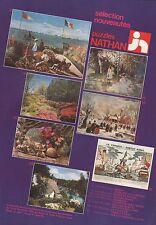 Publicité Puzzles NATHAN jeu ancien vintage toy ad  1981