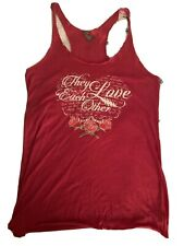 """Grateful Dead """"They Love Each Other� Womens' Razor Back T-shirt - L"""