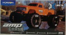 ECX 1/10 Amp Crush 2WD Monster Truck Brushed RTR, Orange ECX03048T2