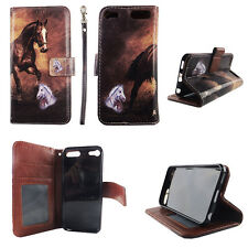 Flip Wallet Case Tan Horse for ipod touch 5 6 Gen Cash id Slot Stand Cover