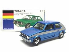MADE IN JAPAN TOMICA No. F5 VOLKSWAGEN GOLF GLE 1/56 DIECAST BLUE CAR RARE