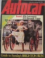 Autocar magazine 4/11/1978 featuring Sunbeam Tiger, Fiat Abarth, Renault