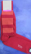 Paul Smith Mens English Socks Ben Stripe Red Orange F905 One Size Cotton Mix