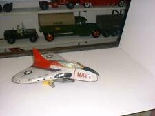 MARX WIND UP METAL PROTOTYPE AIRPLANE / HAND BUILT & HAND PAINTED / RARE NAVY