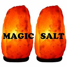 2 x naturel thérapeutique sel de l'himalaya lampe 2-3kg rose rock sel lampe