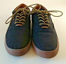 Tommy Hilfiger Tmphelipo Mens 9.5 Canvas Navy Lace Up Casual Tennis Shoes