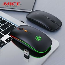 iMice RGB Wireless Mouse Bluetooth 5.0 Mouse Silent USB Computer Mause Ergonimic