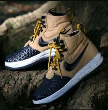 online store e8701 fe72a Nike Lunar Force 1 Duckboot 17 Mens 916682-701 Gold Bone Black BOOTS Size