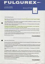 catalogo FULGUREX 1974 Informations N.8 Spur O HO OO                  D F  aa