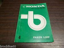 PARTS LIST HONDA C CA 72 77 78 250 350 1972 -> catalogue de pieces détachées