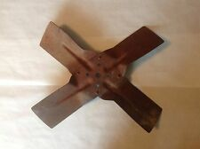 "Vintage 17"" Engine Fan, Rustic Steampunk Industrial Decor, Rusty Blade"