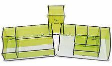 3 Detachable Acrylic Cosmetics Makeup Jewelry Organizer Storage Box Containers