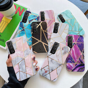 Geometric Marble Silicone Case Cover For Samsung S21 S20 A12 A32 A42 A52 A72 A41