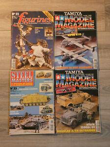 lot de 4 magazines maquettes steel masters/tamiya/figurines