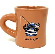 Life Is Good Mug Fishing Boat Do What You Like Terra Cotta Color Fisherman