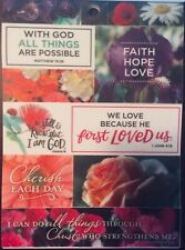 Religious Inspirational Bible Verse Floral Love Phrase Vellum Scrapbook Stickers